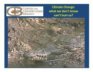 what we don't know can't hurt us? - Center for Sustainable Suburban ...