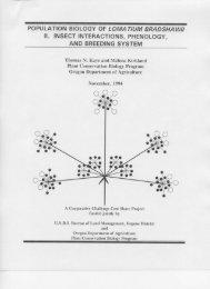 Lomatium bradshawii pollination and pollinators - Institute for ...