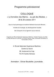 Ebauche Programme Colloque LH - Association Sciences en Seine ...