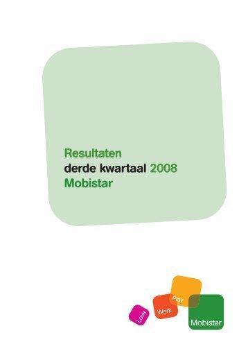 Resultaten derde kwartaal 2008 - Mobistar
