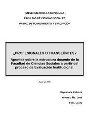Apuntes sobre la estructura docente de la FCS - Facultad de ...