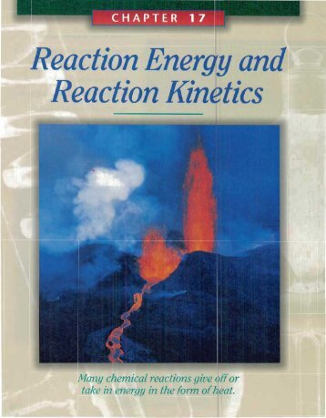 Reaction Energy and Reaction Kinetics