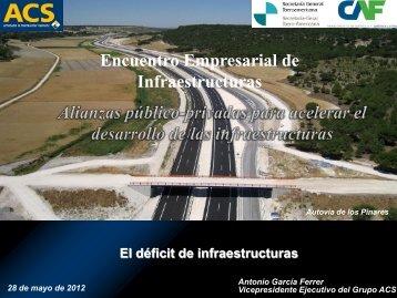 Antonio García Ferrer, Vicepresidente Ejecutivo de ACS ... - Segib