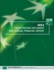 2011 Registration document and annual financial report - BNP Paribas