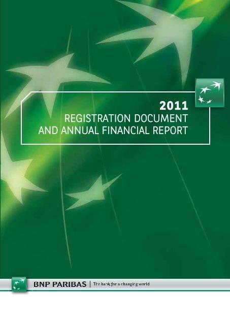 2011 Registration document and annual financial report - BNP Paribas