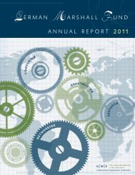 German Marshall Fund annual report 2011