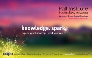 2012 Fall Institute Courses November 2 - American College of ...