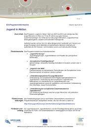 Infoblatt Jugend in Aktion (.pdf) - NRW.Europa
