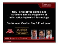 New Perspectives on Role and St t i th M t f Structure in the ... - MISRC