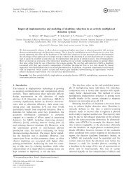 Improved implementation and modeling of deadtime reduction in an ...