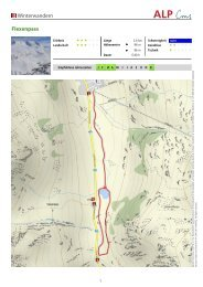Winterwandern Flexenpass