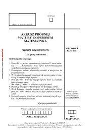 arkusz próbnej matury z operonem matematyka - Zadania.info