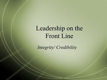 Integrity/ Credibility