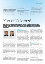 Kan etikk læres?