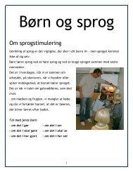 Sprogfolder - Vestbyens Dagtilbud & SFO