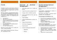 Formål: Eksempel på aktiviteter i Sproggruppen ... - PPR Aalborg
