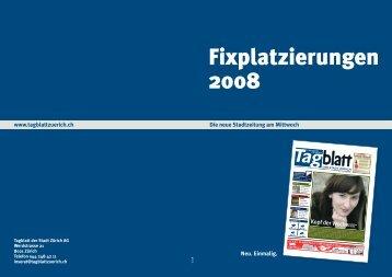 Die neue Stadtzeitung am Mittwoch www.tagblattzuerich.ch Kopf der ...