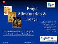 Projet Alimentation & image - PFEDA / Page d'accueil PFEDA