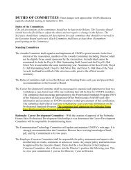 Duties of the Committees: (The job descriptions of the ... - unopa