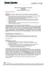 Regionalne spotkanie menedżerów ochrony zdrowia 6 ... - p.wnp.pl