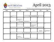 a printable updated calendar from our website. - Office of Catholic ...