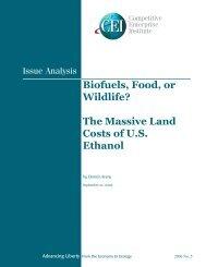 Biofuels, Food, or Wildlife? - Competitive Enterprise Institute