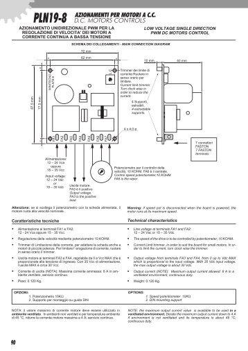 low voltage single direction pwm dc motors control azionamento ...