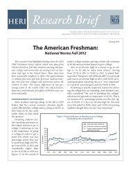 The American Freshman: - Higher Education Research Institute ...