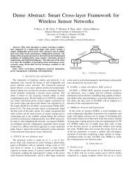 Smart Cross-layer Framework for Wireless Sensor Networks