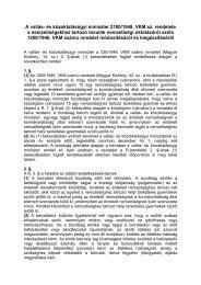 A vallás- és közoktatásügyi miniszter 2100/1948. VKM sz. rendelete ...