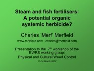Steam and fish fertilisers - Lincoln University Research Archive