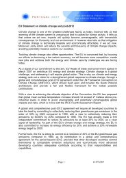 EU Statement on climate change and post-2012 - The Select ...