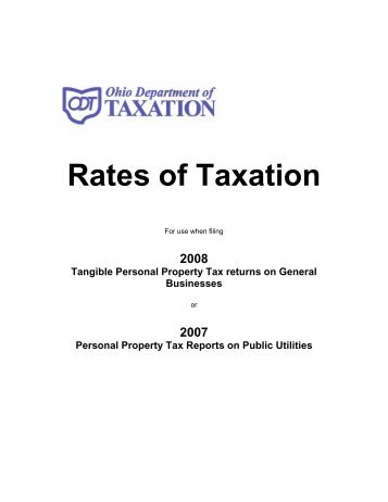 Rates of Taxation - Ohio Department of Taxation