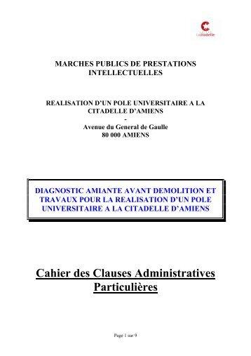 marches publics de fournitures courantes et services - Amiens ...