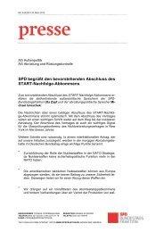 SPD begrüßt den bevorstehenden Abschluss des START ... - Uta Zapf
