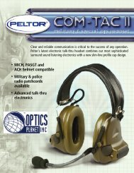 • MICH, PASGT and ACH helmet compatible ... - Aearo Company
