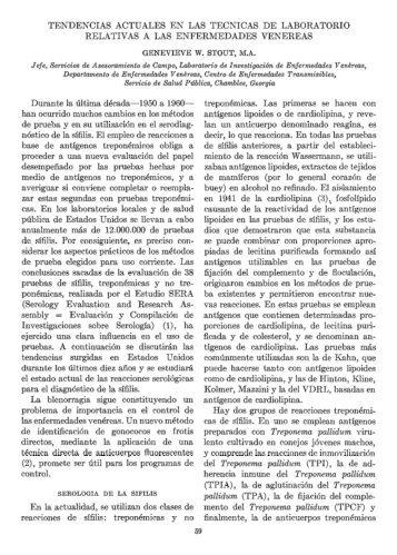 TENDENCIAS ACTUALES EN LAS TECNICAS DE ... - PAHO/WHO