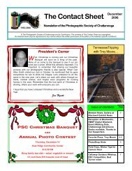 December 2006 - Photographic Society of Chattanooga
