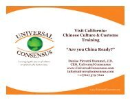 Chinese Culture & Customs Training