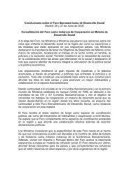 Conclusiones sobre el Foro de Desarrollo Social - Segib