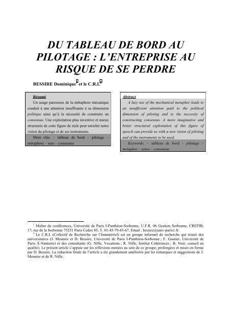 Du Tableau De Bord Au Pilotage L Costkiller