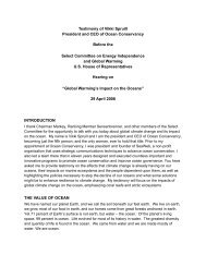 the value of ocean - The Select Committee for Energy Independence ...