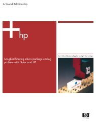 Songbird Hearing solves package coding problem with Nutec - HP