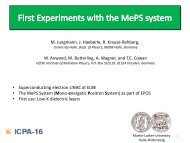 First Experiments with the MePS system - Positron Annihilation in ...