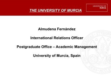 THE UNIVERSITY OF MURCIA - Open DC