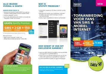 TOPAAnBIEDIng VOOR FAnS VAn SMS & MOBIEL InTERnET