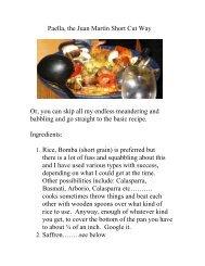 Paella, the Juan Martín Short Cut Way - The Geriatric Gourmet