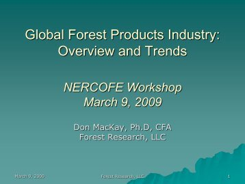 Global Forest Products Industry: Overview and Trends