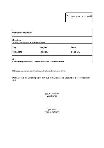 Gemeinde Oelixdorf - Amt Breitenburg