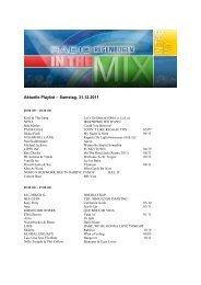 Aktuelle Playlist – Samstag, 31.12.2011 - Radio Regenbogen